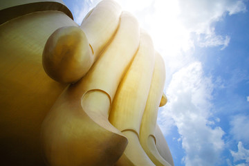 Big Buddha in Thailand and beautiful sky.