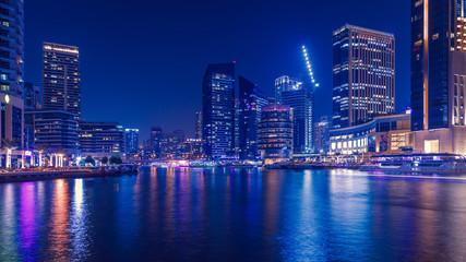 Promenade and canal in Dubai Marina