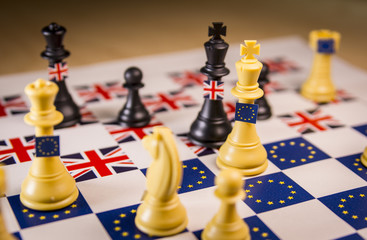 Brexit chess strategy board