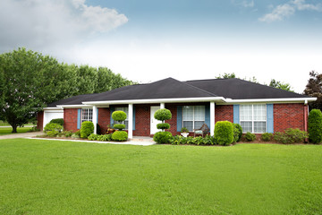 1980's Brick Ranch Style House in the Suburbs Wall mural