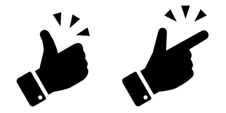 手の閃き、グッドサインのアイコン