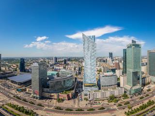 Modern Skyline of Warsaw in Poland