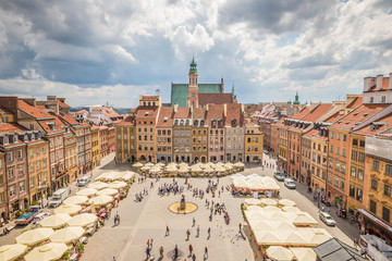Nice view of Warsaw Old town square