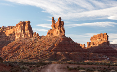 Valley of the Gods is located in southern Utah on Bureau of Land Management Land near Bears Ears National Monument.