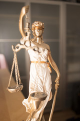 Law office legal justice statue