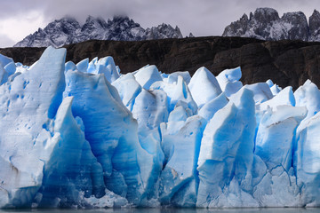 Printed kitchen splashbacks Glaciers Ice field of the Grey Glacier