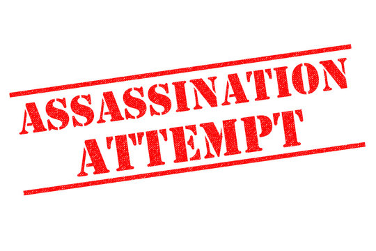 ASSASSINATION ATTEMPT Rubber Stamp