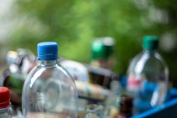 Pfandflaschen sammeln zur Abgabe
