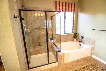 Modern Bathroom With Shower And Tub