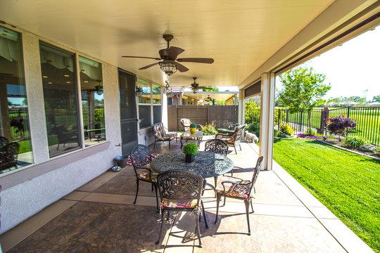 Modern Home Rear Yard Patio