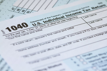 Individual Income Tax Return 1040 IRS Tax Form