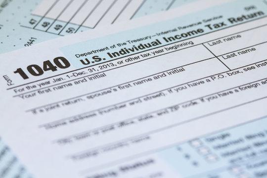 Individual Income Tax Return 1040 IRS Tax Form