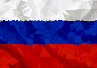 Russia flag, polygonal style