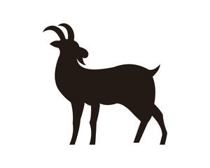 goat animal farm icon vector illustration design silhouette