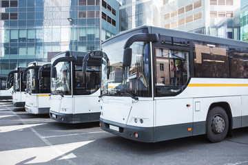 tourist buses at the bus station