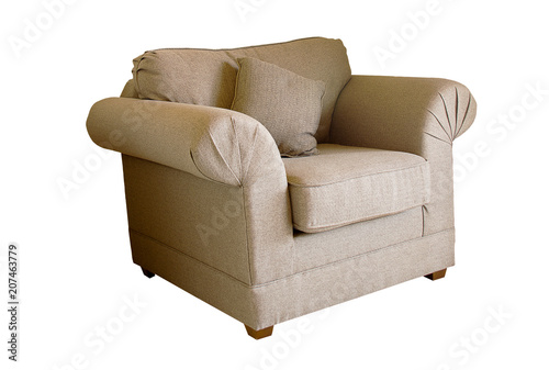Phenomenal Sofa Isolated On A White Background With Round Back Side In Ocoug Best Dining Table And Chair Ideas Images Ocougorg