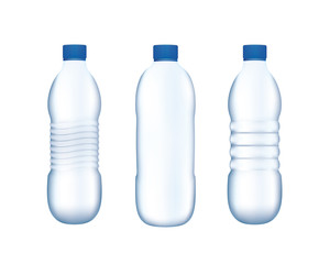 Water bottles, vector