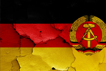 flags of West Germany and East Germany