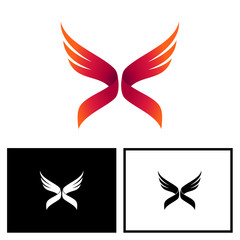 Wing Letter x Logo