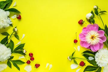 flowers background, peonies