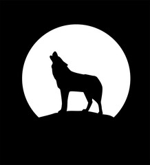 Vector Wolf Silhouettes