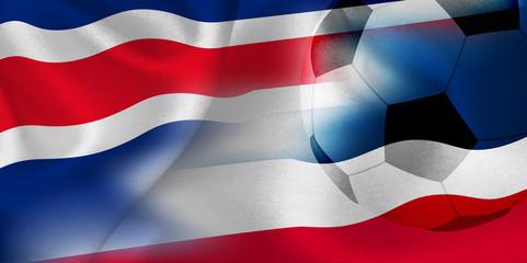 コスタリカ セルビア  国旗 サッカー
