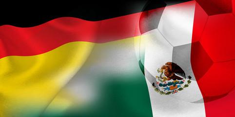 ドイツ メキシコ  国旗 サッカー