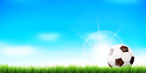 サッカー ボール 風景 背景