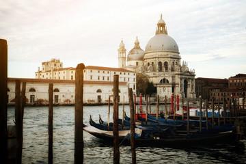 Gondola Boats in Venice - Italy