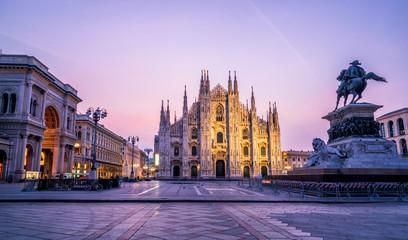 Keuken foto achterwand Milan Duomo di Milano (Milan Cathedral) in Milan, Italy