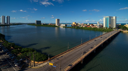 Downtown Recife and Buarque de Macedo Bridge
