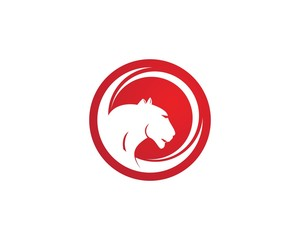 Puma head icon logo vector template
