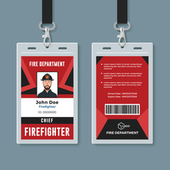 Firefighter ID card design template