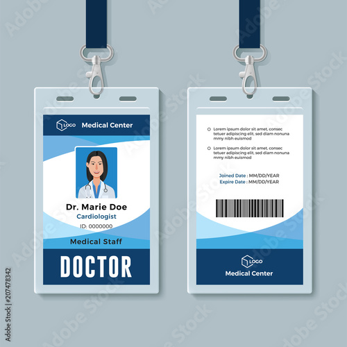 Doctor Id Badge Medical Identity Card Design Template