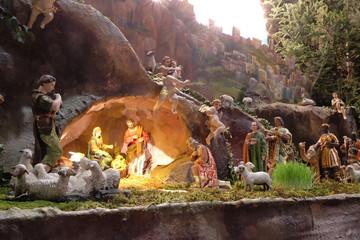 Nativity Scene, Christmas creche in Zagreb cathedral