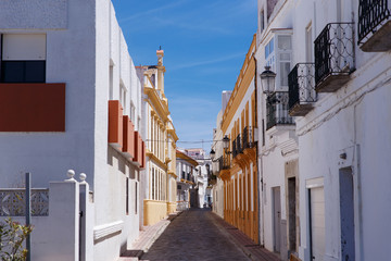 Old streets of the Spanish Andalusian town.