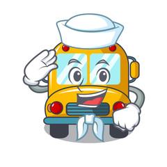 Sailor school bus character cartoon