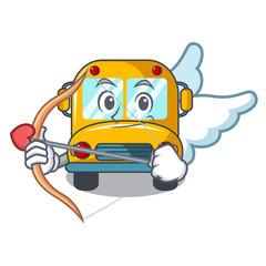 Cupid school bus character cartoon