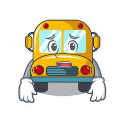 Afraid school bus mascot cartoon