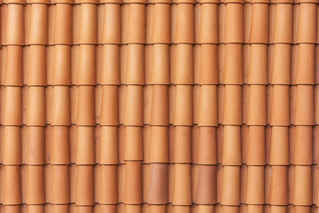 Background image of the elements of the roofing material, ceramic tiles