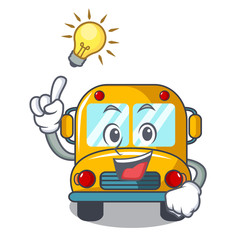 Have an idea school bus mascot cartoon