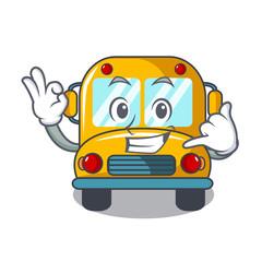 Call me school bus mascot cartoon