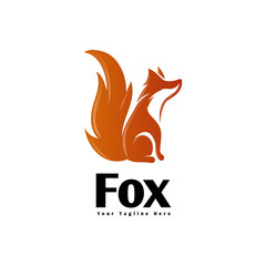 Sit down fox care logo
