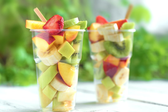 Fruit and berry salad takeaway
