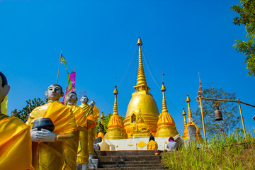 The beauty of the Pilok temple is the oldest temple in E tong village , Kanchanaburi Thailand.