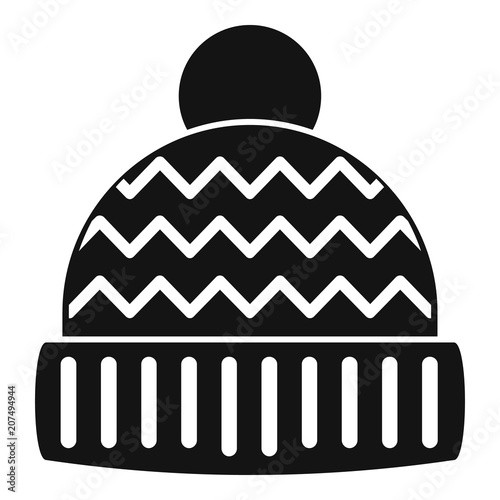 cc0216334c5 Winter hat icon. Simple illustration of winter hat vector icon for web  design isolated on white background