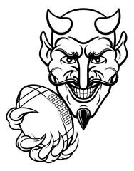 Devil American Football Sports Mascot
