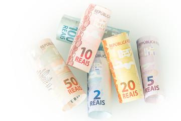 Brazilian money / reais / business concept