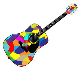 Harlequin Patchwork Acoustic Guitar