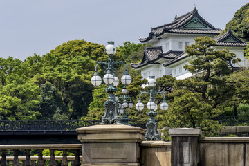 View of the Imperial Palace in the Chiyoda district, Tokyo, Japan